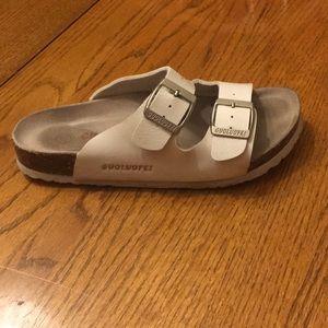 Guoluofei 2019 Arizona Sandals blue brown black white Birko narrow regular